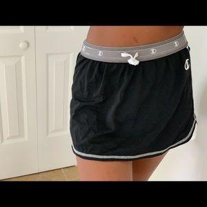 Black vintage champion tennis skirt